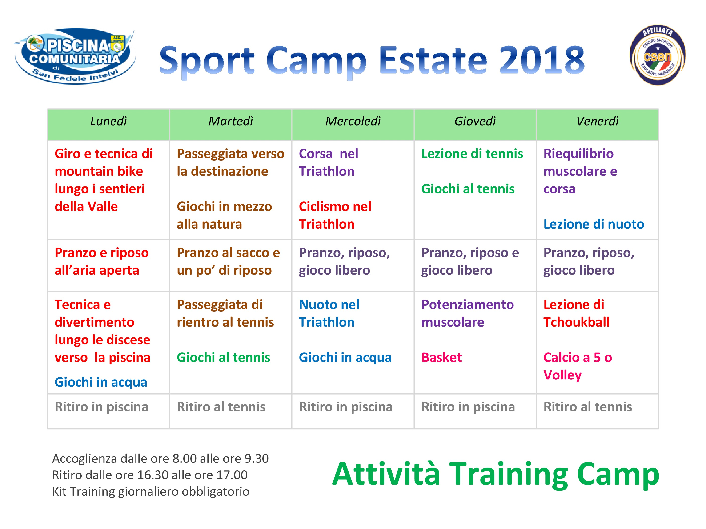 programma trainingcamp2018